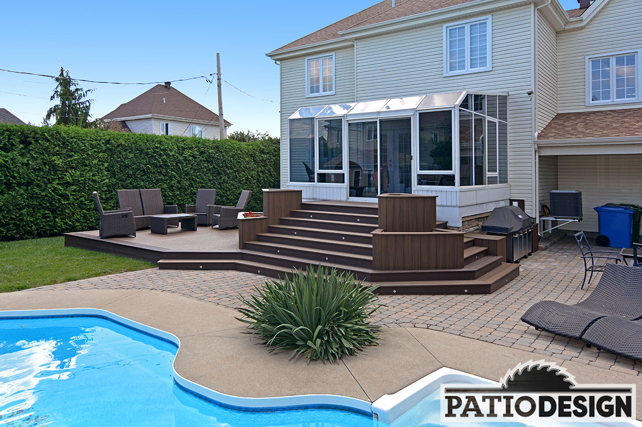 Patio With Pool. Unique With Patio With Inground Pool By Design Inc To With  Pool