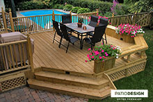 Wood Patio by Patio Design inc.