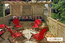 Patio on two floors by Patio Design inc.
