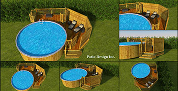 Patio avec piscine par Patio Design inc.